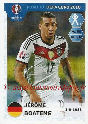 Panini Road to Euro 2016 Stickers - N° 051 - Jérôme BOATENG (Allemagne)