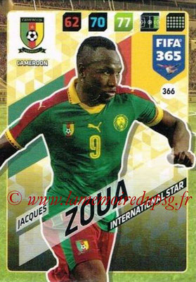 2017-18 - Panini FIFA 365 Cards - N° 366 - Jacques ZOUA (Cameroun) (International Star)