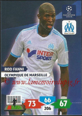 2013-14 - Adrenalyn XL champions League N° 210 - Rod FANNI (Olympique de Marseille)