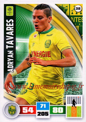 2016-17 - Panini Adrenalyn XL Ligue 1 - N° 268 - Adryan TAVARES (Nantes)