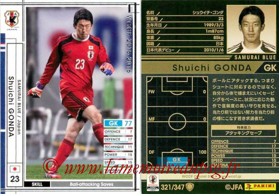 2015-16 - Panini WCCF - N° 321 - Shuichi GONDA (Japon)