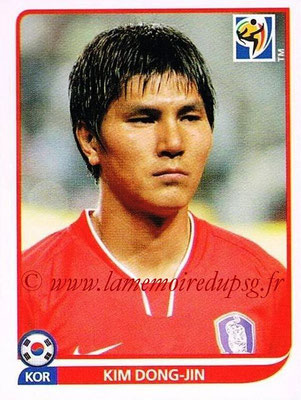2010 - Panini FIFA World Cup South Africa Stickers - N° 151 - Kim DONG-JIN (Corée du Sud)