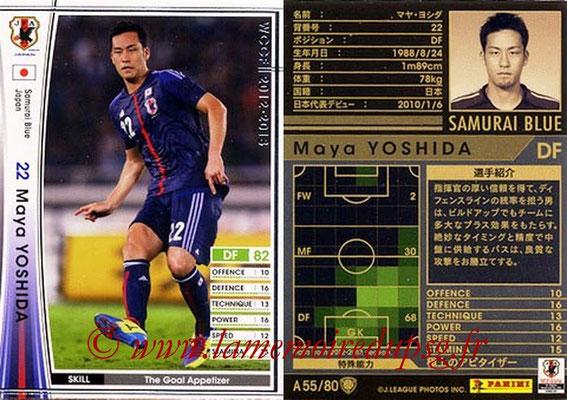 2012-13 - WCCF - N° A55 - Maya YOSHIDA (Japon)