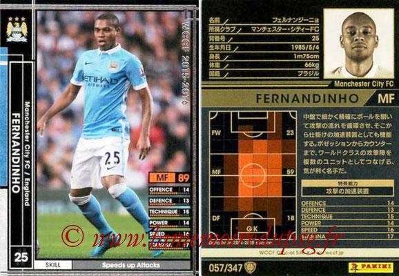2015-16 - Panini WCCF - N° 057 - FERNANDINHO (Manchester City FC)