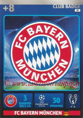 2014-15 - Adrenalyn XL champions League N° 010 - Logo FC Bayern Munich (Club Badge)