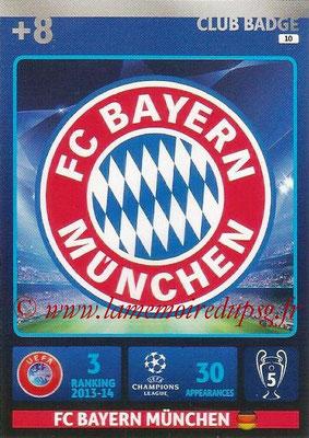 2014-15 - Adrenalyn XL champions League N° 010 - Logo FC Bayern Munich (Club Badge)