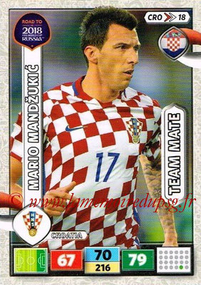 2018 - Panini Road to FIFA World Cup Russia Adrenalyn XL - N° CRO18 - Mario MANDZUKIC (Croatie)