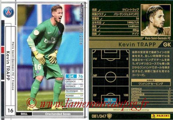 2015-16 - Panini WCCF - N° 081 - Kevin TRAPP (Paris Saint-Germain)