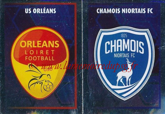 2017-18 - Panini Ligue 1 Stickers - N° 559 - Ecussons Chamois Niortais + US Orléans