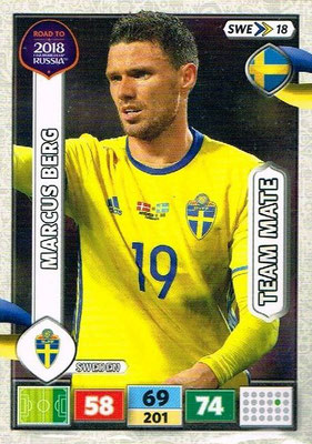 2018 - Panini Road to FIFA World Cup Russia Adrenalyn XL - N° SWE18 - Marcus BERG (Suède)