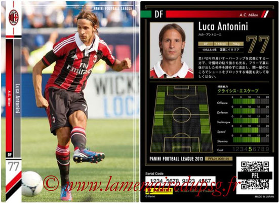Panini Football League 2013 - PFL01 - N° 005 - Luca Antonini ( A.C. Milan )