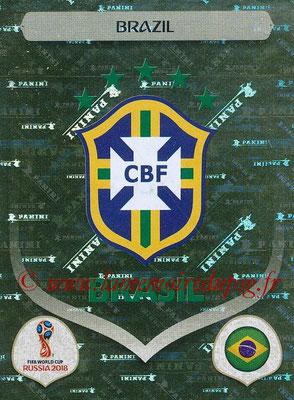 2018 - Panini FIFA World Cup Russia Stickers - N° 352 - Ecusson Bresil