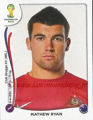 2014 - Panini FIFA World Cup Brazil Stickers - N° 167 - Mathew RYAN (Australie)