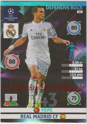 2014-15 - Adrenalyn XL champions League N° 301 - PEPE (Real Madrid CF) (Defensive Rock)