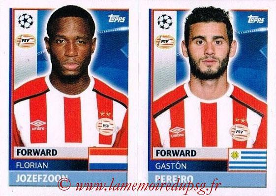 2016-17 - Topps UEFA Champions League Stickers - N° PSV 16-17 - Gaston PEREIRO + Florian JOSZEFZOON (PSV Eindhoven)