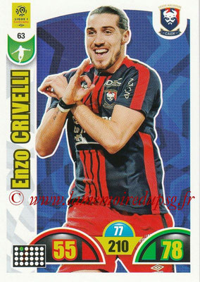 2018-19 - Panini Adrenalyn XL Ligue 1 - N° 063 - Enzo CRIVELLI (Caen)