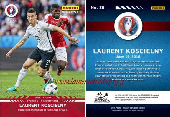 Panini Instant Euro 2016 - N° 035 - Laurent KOSCIELNY