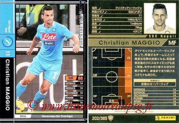 2013-14 - WCCF - N° 202 - Christian MAGGIO (SSC Napoli)