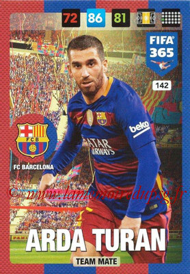 2016-17 - Panini Adrenalyn XL FIFA 365 - N° 142 - Arda TURAN (FC Barcelone)