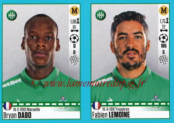 2016-17 - Panini Ligue 1 Stickers - N° 788 + 789 - Bryan DABO + Fabien LEMOINE (Saint-Etienne)