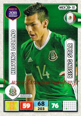 2018 - Panini Road to FIFA World Cup Russia Adrenalyn XL - N° MEX15 - Hirving LOZANO (Mexique) (Rising Star)