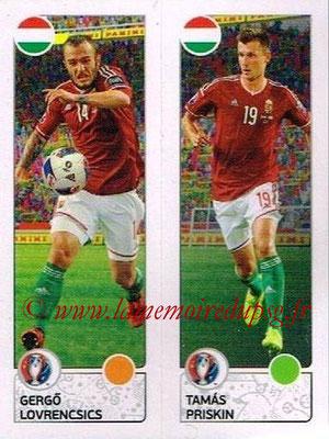 Panini Euro 2016 Stickers - N° 660 - Gergo LOVRENCSICS + Tamas PRISKIN (Hongrie)