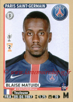 2015-16 - Panini Ligue 1 Stickers - N° 349 - Blaise MATUIDI (Paris Saint-Germain)