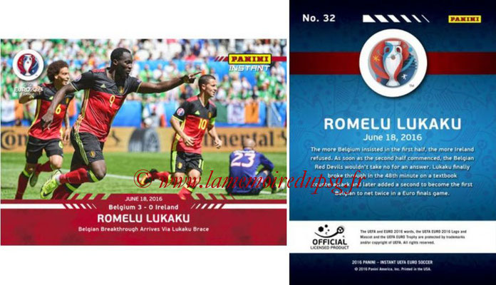 Panini Instant Euro 2016 - N° 032 - Romelu LUKAKU