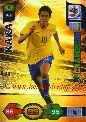 2010 - Panini FIFA World Cup South Africa Adrenalyn XL - N° 049 - KAKA (Bresil) (Champion)