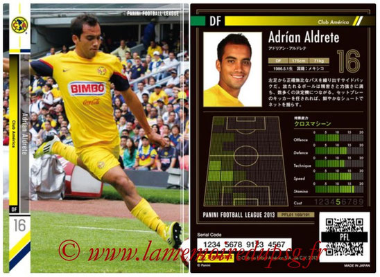 Panini Football League 2013 - PFL01 - N° 169 - Adrian Aldrete ( Club America )