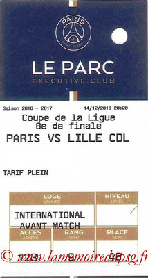 Tickets  PSG-Lille  2016-17