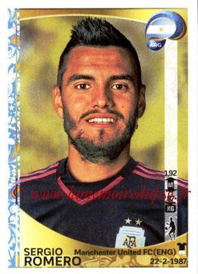 Panini Copa America Centenario USA 2016 Stickers - N° 306 - Sergio ROMERO (Argentine)