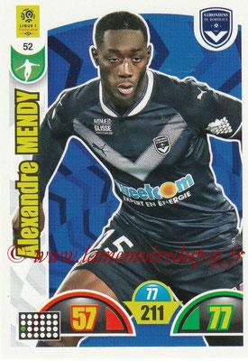 2018-19 - Panini Adrenalyn XL Ligue 1 - N° 052 - Alexandre MENDY (Bordeaux)