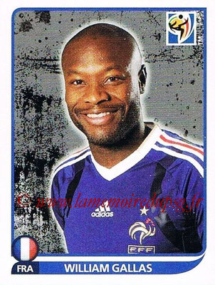 2010 - Panini FIFA World Cup South Africa Stickers - N° 091 - William GALLAS (France)