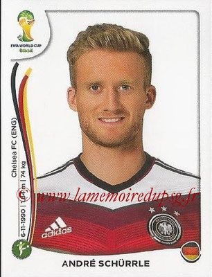 2014 - Panini FIFA World Cup Brazil Stickers - N° 503 - Andre SCHURRLE (Allemagne)