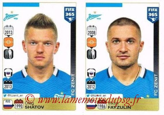2015-16 - Panini FIFA 365 Stickers - N° 742-746 - Oleg SHATOV + Viktor FAYZULIN (FC Zenit)