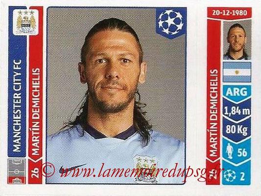 2014-15 - Panini Champions League N° 365 - Martin DEMICHELIS (Manchester City FC)