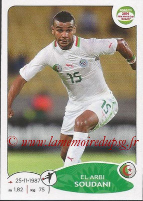 2014 - Panini Road to FIFA World Cup Brazil Stickers - N° 381 - Elarbi SOUDANI (Algérie)