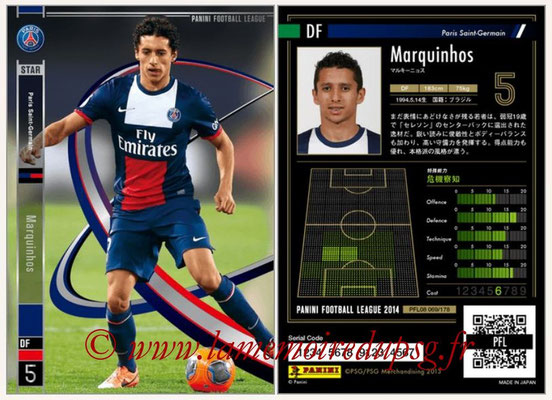 Panini Football League 2014 - PFL08 - N° 069 - MARQUINHOS (Paris Saint-Germain)