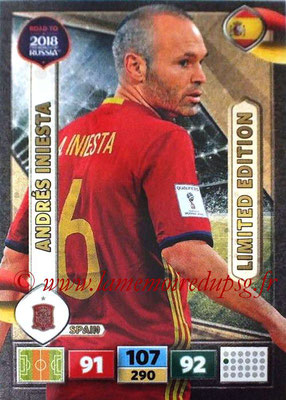 2018 - Panini Road to FIFA World Cup Russia Adrenalyn XL - N° LE-AI - Andres INIESTA (Espagne) (Limited Edition)