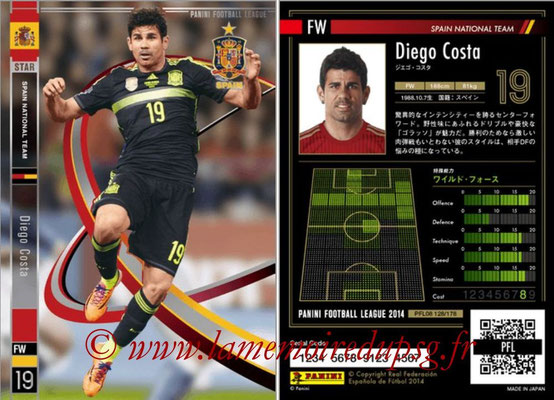 Panini Football League 2014 - PFL08 - N° 128 - Diego COSTA (Espagne) (Star)