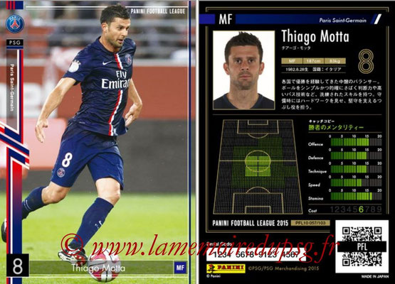 Panini Football League 2015 - PFL10 - N° 057 - Thiago MOTTA (Paris Saint-Germain)