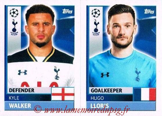 2016-17 - Topps UEFA Champions League Stickers - N° TOT 4-5 - Hugo LLORIS + Kyle WALKER (Tottenham Hotspur)