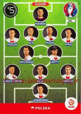 Panini Euro 2016 Cards - N° 261 - Équipe Type de Pologne