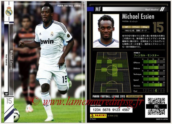 Panini Football League 2013 - PFL03 - N° 046 - Michael Essien (Real Madrid)