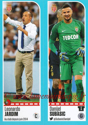2016-17 - Panini Ligue 1 Stickers - N° 470 + 471 - Leonardo JARDIM + Danijel SUBASIC (Monaco)