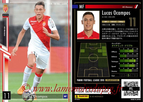 Panini Football League 2015 - PFL09 - N° 077 - Lucas OCAMPOS (AS Monaco)