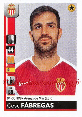 2018-19 - Panini Ligue 1 Stickers - N° T17 - Cesc FABREGAS (Monaco) (Transfert)