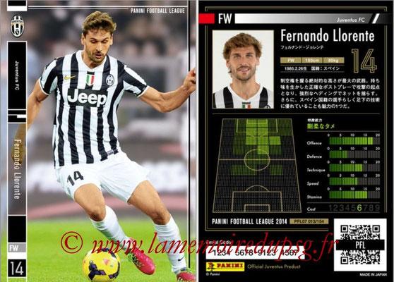 Panini Football League 2014 - PFL07 - N° 013 - Fernando LLORENTE (Juventus FC)