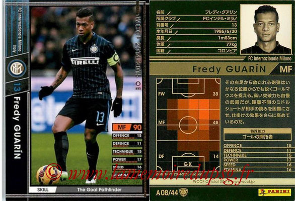 2013-14 - WCCF - N° A08 - Fredy GUARIN (FC Inter Milan)